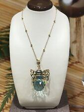 New TAHIA Designer 10 mm BLACK TAHITIAN PEARL Angel Butterfly Pendant Bora Bora