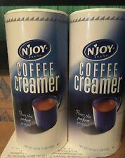 New listing Njoy Tea Coffee Powdered Non-Diary Creamer Bulk Office Size 16oz Lot 2 Exp 10/20