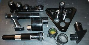 TELESCOPE PKG: BARLOW LENSE, MAGNIFICATION EYEPIECES, AIMSCOPE, ADAPTERS, & MORE