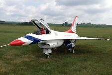 """1/6 Scale F-16A FIGHTING FALCON 61 """"WS scratch build R/c Plane Plans & Patterns"""