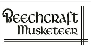 A212 Beechcraft Musketeer Airplane banner hangar garage decor Aircraft signs
