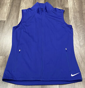 NIKE GOLF WOMENS FULL ZIP GOLF MULTI POCKET CASUAL GOLF VEST WINDBREAKER SZ S