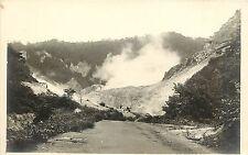 1924-49 Real Photo Postcard Geothermal Vents, Rotorua New Zealand Unposted
