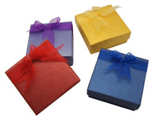 48 pcs Square Bow Tie Jewelry Cardboard Boxes Jewellery Gift Boxes 8.6x8.6x3.7mm