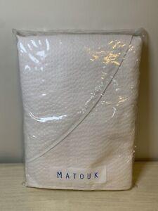 Matouk FULL / QUEEN Coverlet White 92 X 97 #027 Sanibel Island New In Bag