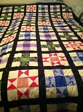 Beautiful Multicolor Star Quilt, King size.  Also looks good on a Queen bed as s