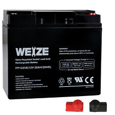 Weize 12V 20Ah Rechargeable Deep Cycle Long Life Lead Acid Universal Battery
