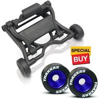 Traxxas Wheelie Bar  / Blue Alum Wheels & Rubber Tires : E-Maxx BL / T-Maxx 3.3