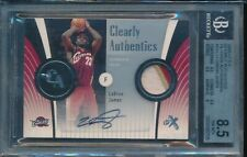 2006-07 E-X Clearly Authentics LeBron James 3 COLOR GU PATCH BGS 10 AUTO 12/25