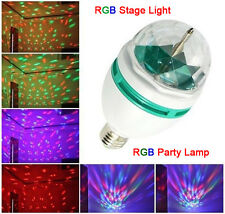 E27 3W RGB LED Stage Ball Rotating Colorful Bulb Lamp Party Disco KTV Bar Light
