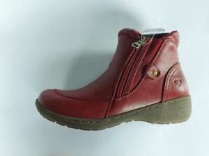 Women's Heavenly Feet Venice Double Zip Low Wedge Memory Foam Ankle Boot Claret