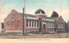 Modesto California West Side Grammar School Street View Antique Postcard K60073