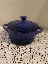 Le Creuset Stoneware Mini round Cocotte blue