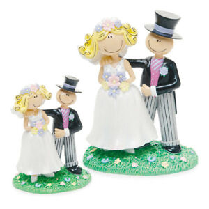 Comical Bride Groom Novelty Funny Wedding Cake Topper