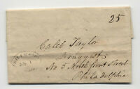 1816 Chillicothe Ohio black italic oval handstamp stampless letter [5808.42]