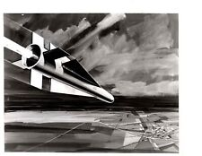 Vintage US Air Force Maverick Missile Drawing Cold War USA Soviet USSR V09