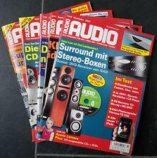 Zeitschrift AUDIO 2007, Magazin für HIFI, Ausgabe 1,5,7,9,11