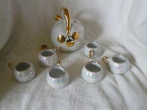ancien service à liqueur en porcelaine LIMOGES  (REF 451)