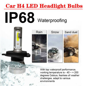 2xCar SUV 6000K H4 LED Bulb 9003 HB2 Headlight Kit High/Low Beam Bulb Parts