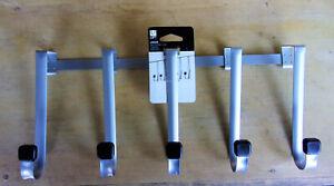 Loft Linger -Over the Door 5 Hook-  Black/Nickel- NEW