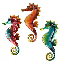 Liffy Set of 3 Metal Seahorse for Garden Decor Outdoor Sculpture and Miniature