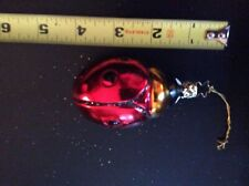 Old World Christmas Lady Bug Blown Glass Ornament