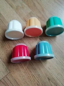 Set of five individual easy release jelly/dessert moulds