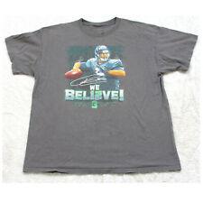 Port & Co. Gray Russell Wilson We Bel12ve! Tee T-Shirt Top Men's XL X-Large X18