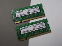 2GB 2X1GB CRUCIAL1GB 200-PIN DDR2 SODIMM 128X6 Laptop RAM Modules ACKTONN 574-7