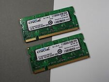 2GB 2X1GB CRUCIAL1GB 200-PIN DDR2 SODIMM 128X6 Laptop RAM Modules ACKTONN 574-7