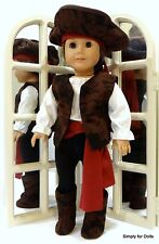 """7pc BUCCANEER Doll Costume for 18"""" AMERICAN GIRL """"BOY"""" Pants Top Vest Boots Hat"""