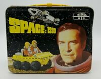 """Vintage 1976 """"Space 1999"""" Thermos Metal Lunchbox Very Nice Graphics NO Thermos"""