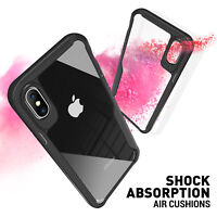 Hybrid Shockproof Case Slim Hard Clear Back Bumper Cover for iPhone X s 8 7 Plus