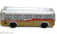 Vintage Antique CONTINENTAL Trailways Tinplate Friction Toy Bus Japan 1960's