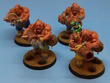 4 Leadbelchers 28mm miniatures Ogre Kingdoms Age of Sigmar Games Workshop