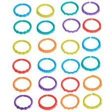 New! Lots of 24 Baby Kid Stroller Gym Play Mat Toy Rainbow Teether Ring Links LG