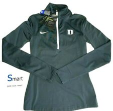 $95 NWT SIZES XS S WOMEN Nike PRO WARM Duke Blue Devils 1/4 Zip Pullover Shirt