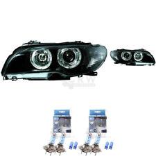 Scheinwerfer Set für BMW E46 Coupe/Cabrio LED Angel Eyes klar/schwarz 1365886