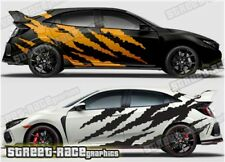 Honda Civic Rally 023 ripped shredded graphics stickers decals vinyl