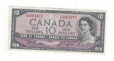 **1954 Devil's Face**Canada $10 Note, Beattie/Coyne BC-32b, Ser# ID 3064471