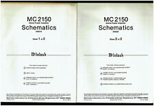 McIntosh MC 2150 Stereo Power Amplifier Amp Rare Original Schematic Diagrams Set