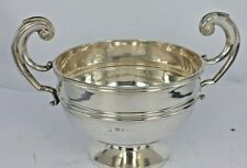 1912 Large stylish Solid silver bowl or trophy high curved handles 134 grams