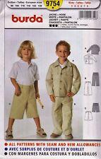 Burda 9754 Boy's Co-ordinates Pattern Size 3 to 8