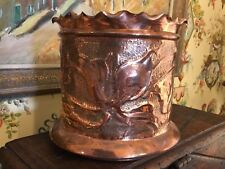English Hand Made Copper Container Jardiniere Cache Pot Devon England
