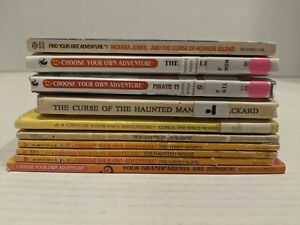 Lot Of 10 Choose Your Own Adventure Books Vintage Hardcover/Paperback Free Ship!