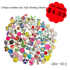 100pcs mixed style floating living charms for floating memory locket