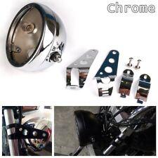 5.75'' Motorcycle Headlight Chrome Housing Headlamp Light Bucket Fit for Harley