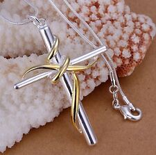 Infinity Cross Necklace - 925 Sterling Silver