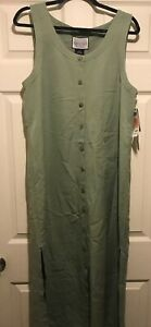 Directives Olive Button Front Lyocell Jumper Size Medium Nwt