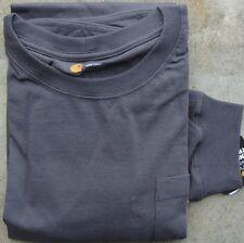 Carhartt K126 Long Sleeve Workwear Pocket T-Shirt - Charcoal - 3XL - Reg